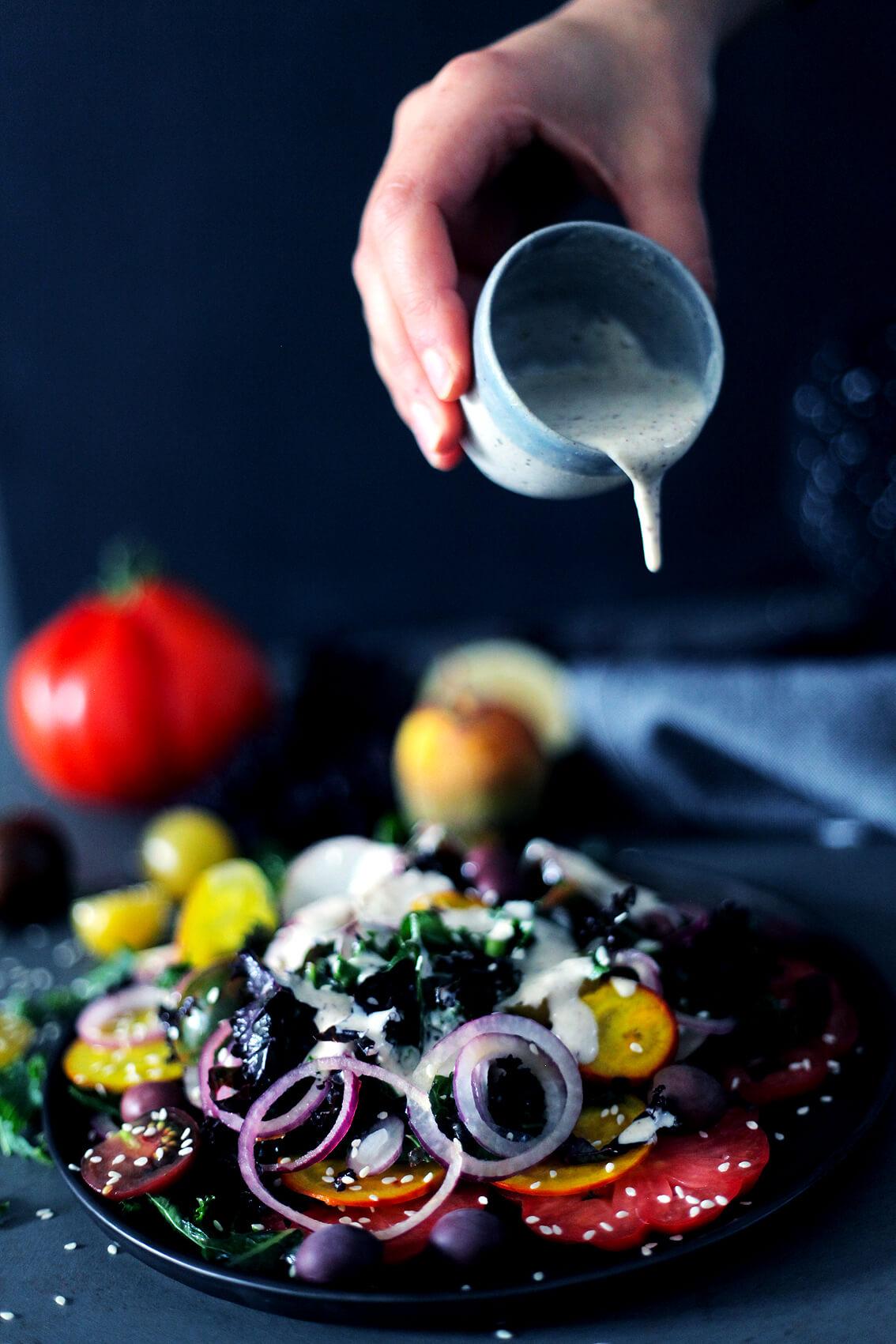 Creamy Raw Kale Salad