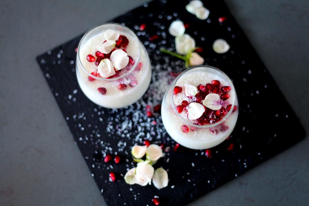 Christmas Rose & Coconut Porridge Dessert