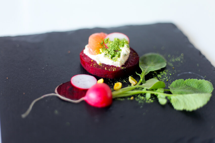 RAW VEGAN 5-course dining experience